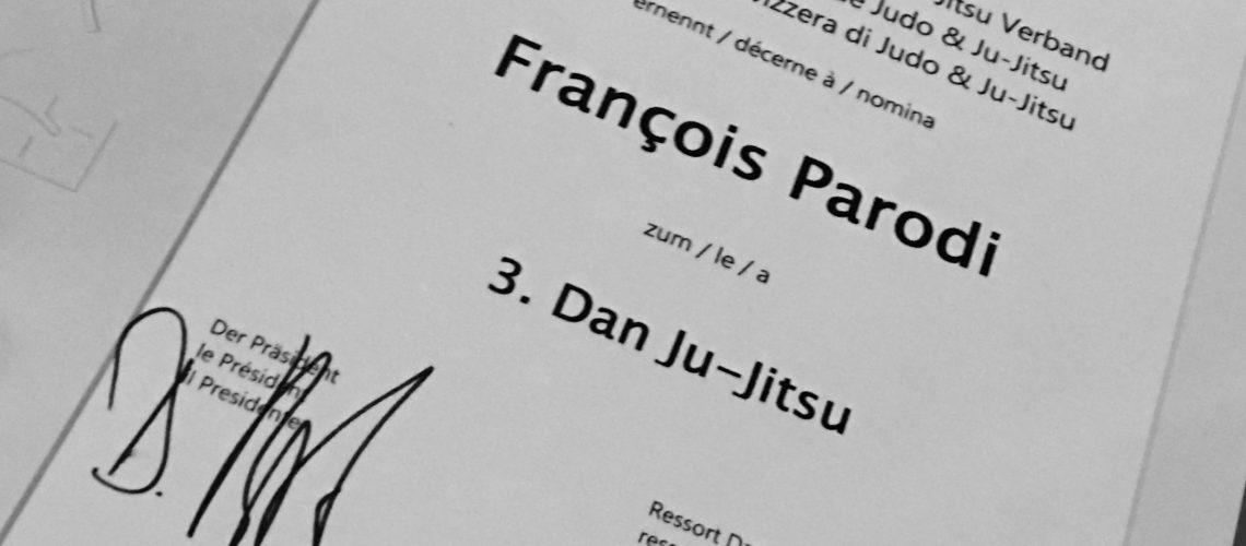 3<sup>ème</sup> Dan pour François